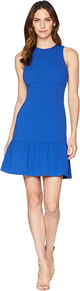 Crepe Sheath Dress with Flounce