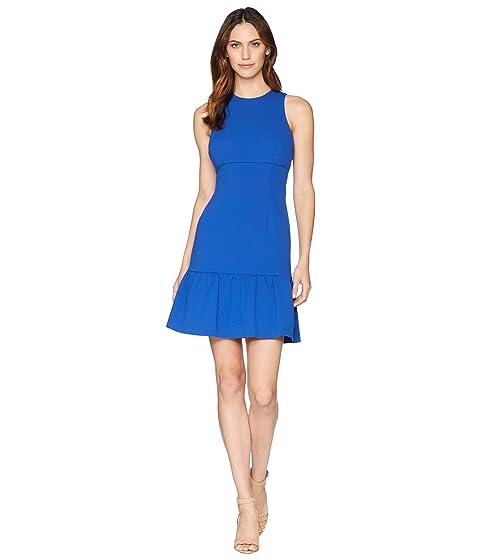 crepé volante azul llama Vestido Donna con de Morgan z7Sx5OPq