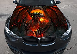 Red Hoods StickAny Car and Auto Decal Series Dragon 3 Sticker for Windows Doors