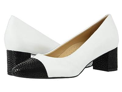 Trotters Kiki (White/Black) Women