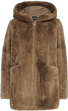 ONLY Onlmalou Faux Fur Coat CC OTW Manteau en Fausse Fourrure Femme