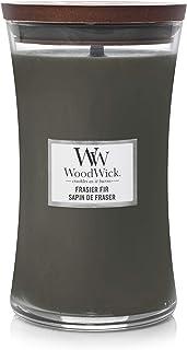 WoodWick vela aromática grande en forma de reloj de arena, abeto de Fraser