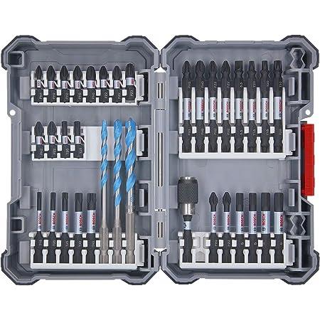 Bosch Professional Set da 35 Pezzi di punte e bit, Pick and Click, accessorio per avvitatore a impulsi, con bit e portabit universale