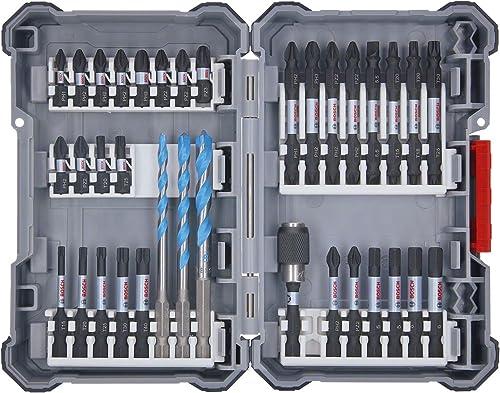 Bosch Professional Set Pick and Click con 35 unidades para taladrar y atornillar Impact Control (accesorios para tala...