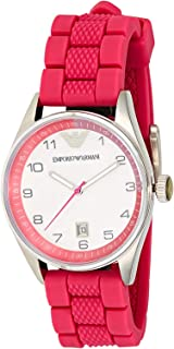 Emporio Armani Women's White Dial Rubber Band Watch - AR5880