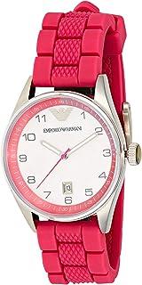 ساعة بسوار مطاطي ومينا ابيض للنساء من امبوريو ارماني - AR5880