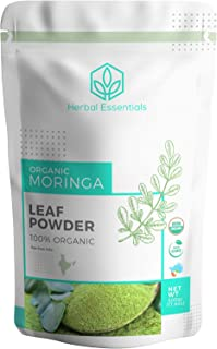 Sponsored Ad - Organic Moringa Oleifera Leaf Powder : USDA Certified and 100% Raw from India. 1.1 lbs (500 g)