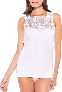 Lingerelle - Lot de 2 chemises sans manches décolleté carré - Blanc - 42/44