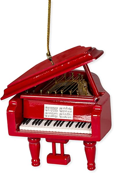 Red Grand Piano Tree Ornament
