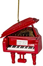 Red Grand Piano Tree Ornament