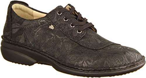 Finn Comfort Chaussures de Ville Ville Ville à Lacets pour Femme Noir Noir 3dd