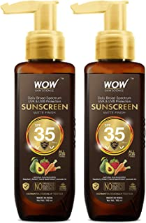 WOW Skin Science Sunscreen Matte Finish - SPF 35 PA++ - Daily Broad Spectrum - UVA &UVB Protection - Quick Absorb - No Par...