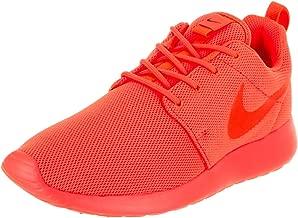 red orange nike shoes