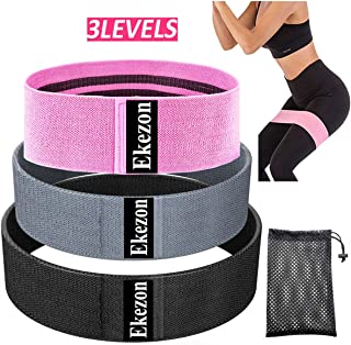 Ekezon Resistance Loop Bands Booty 3 Set Exercise Fitness Band for Legs and Butt Hip Thigh Glute Bands Non Slip Fabric, El...