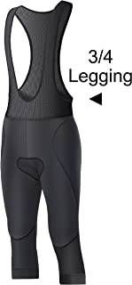 Ceroti Thermal Cycling Tights Bike Pants with Removable Leggings, Bibs Knickers Optional