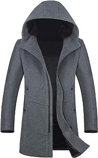 メンズ コート 80% ウール アウター フード付き チェスターコート 秋冬春 紳士 通勤 ビジネスコート NDZS