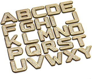 1 Piece Individual DIY Metal Diamond Letter Alphabets 3D Car Badge Sticker Decal Emblem (Number