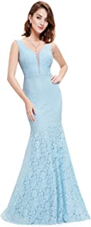 Ever-Pretty Womens Romantic Sexy Lace Floor Length V-Neck Evening Prom Dress 08838
