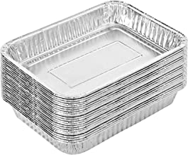 Stock Your Home Aluminum Drip Pan (25 Count) - Drip Pan Liners - Aluminum Drip Pans Compatible with Weber Grills - Disposa...