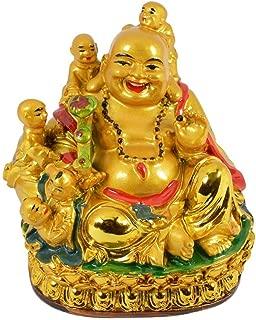 Creativegifts Feng Shui Laughing Buddha with Childs + Free Rudraksha Bracelet