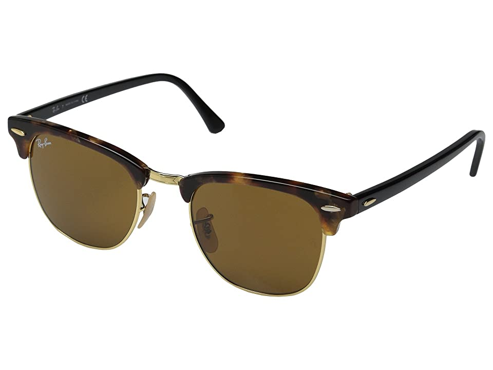 Ray-Ban Clubmaster 49mm (Havana Spotted Brown) Fashion Sunglasses