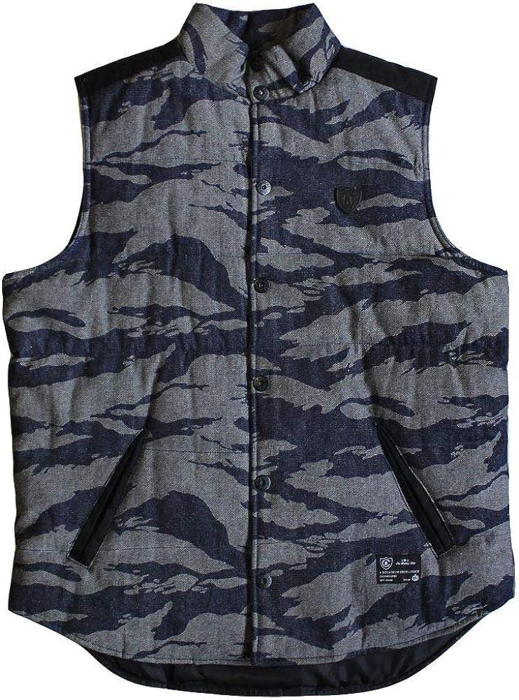 depot Crooks quality assurance Castles Snap Up Black Tiger Denim Vest