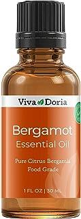 Viva Doria 100% Pure Bergamot Essential Oil, Undiluted, Food Grade, Italian Bergamot Oil, 1 Fluid Ounce (30 mL) Natural Ar...
