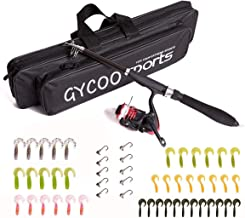 Sponsored Ad - Gycoo Fishing Rod and Reel Combos Carbon Fiber Telescopic Fishing Rod Kit with Fishing Line, Fishing Lures,...