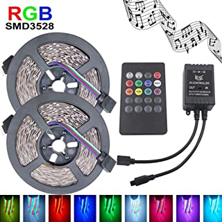 Little Story 3528 RGB LED Strip Flexible Light 10M 600Led/m Music IR Remote Controller DC12V