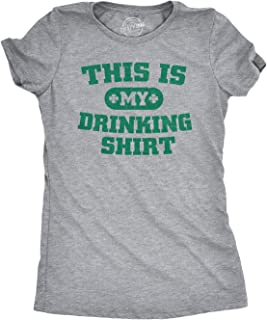 Women's This is My Drinking Shirt T Shirt Funny Party Tee for Ladies