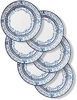 Corelle Chip Resistant Dinner Plates, 6-Piece, Portofino