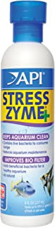 API STRESS ZYME Bacterial cleaner, Freshwater and Saltwater Aquarium Water Cleaning Solution, 8 oz
