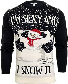Xact Mens Christmas/Xmas Jumper - Sexy Snowman