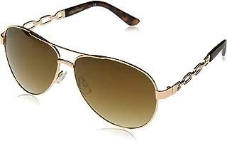 Women's 1025sp Rgdts Non-polarized Iridium Aviator Sunglasses, Rose Gold Tortoise, 60 mm