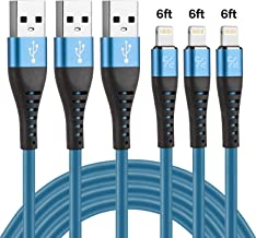 Long iPhone Charger Cable 6ft, CABEPOW Long 6 Foot Lightning Cable, Data Sync Fast iPhone USB Charging Cable Cord for iPhone 11/11 Pro /11 Pro Max/XS/XS Max/XR/X/8/8 Plus/7/7 Plus/6/6 Plus/5/SE-Blue