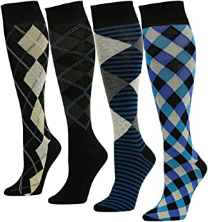 SUTTOS Men's Women's Unisex Knee High Soft Long Dress Socks,1-4 Pairs