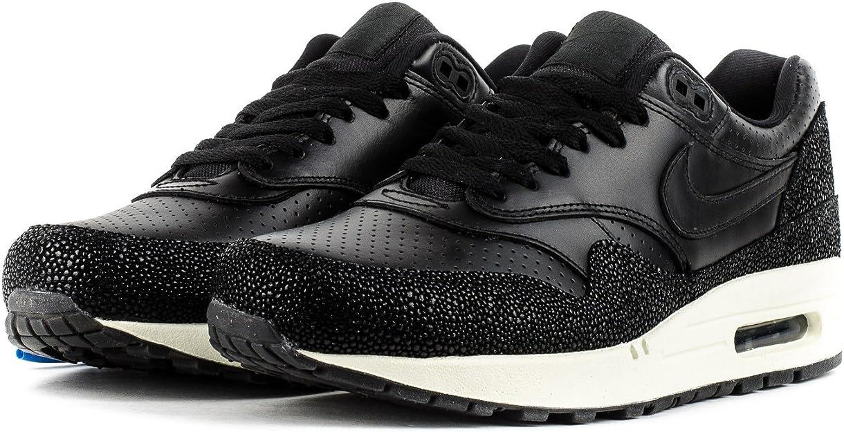 NIKE705007-001 - Nike Air Max 1 cuir Pa Homme , noir (Black/Black ...