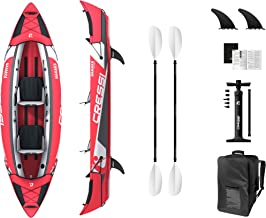 Cressi Namaka Ikayak Set - Inflatable Kayak Available in Two Sizes, 8'2' Single and 10'7'' Two Seats, Red