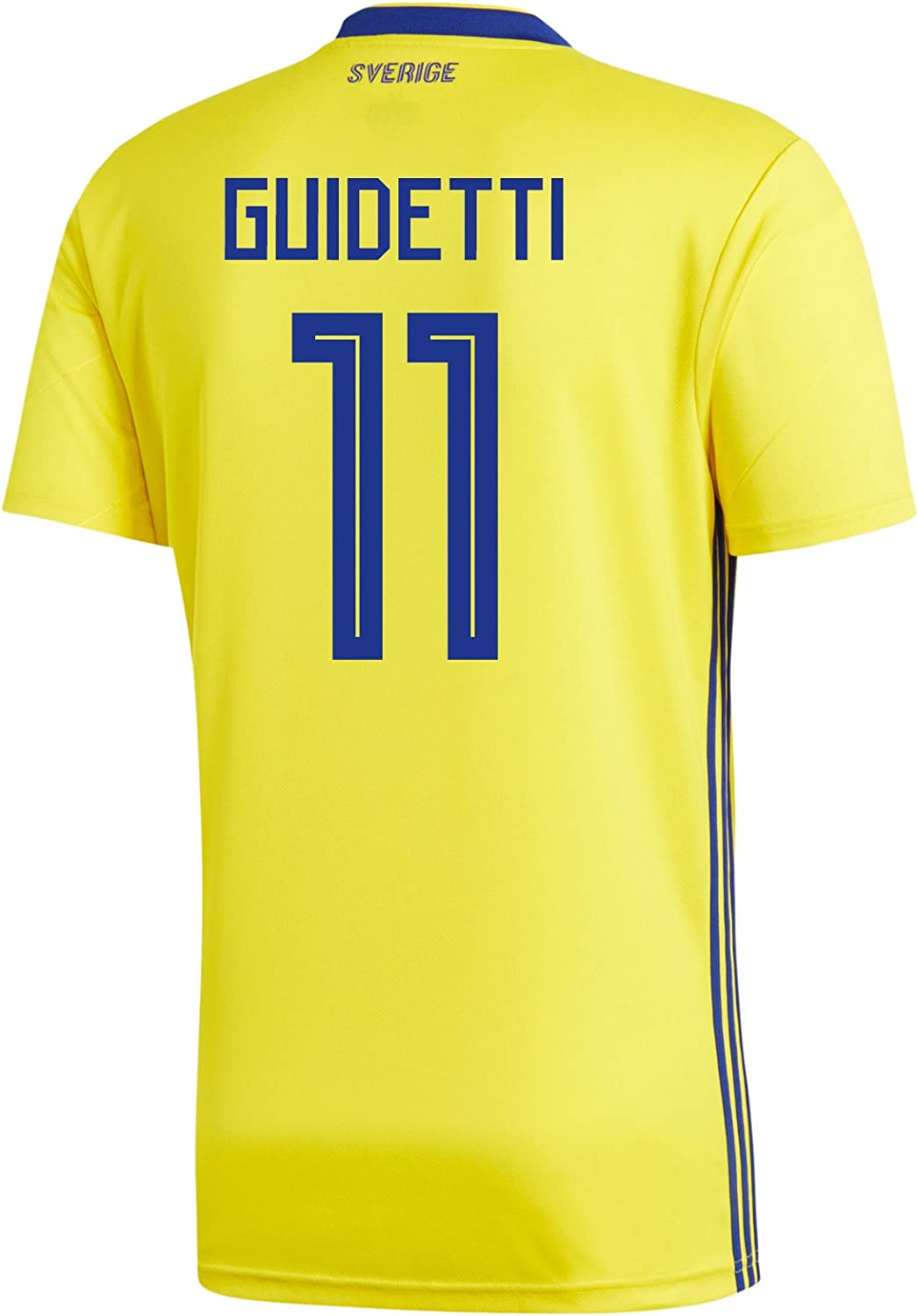 739c69bf Adidas GUIDETTI 11 Sweden Home Men's Soccer Jersey World Jersey Russia 2018