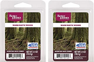 Warm Rustic Woods Scented Wax Cubes – Two (2) Packs (2.5 oz each)