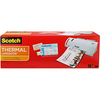 "Scotch Thermal Laminator Combo Pack, Includes 20 Letter-Size Laminating Pouches, Holds Sheets up to 8.9"" x 11(TL902VP)"