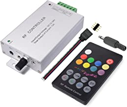 TronicsPros 18 Keys Sound Sensor RF Remote DC 12V-24V,12A Music Activated Controller RF Controller LED controller for SMD5050 3528 RGB LED Strip Under Glow Light Kit Color Changing With Beat