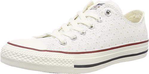 Converse CTAS Ox Ox blanc Garnet Athletic Navy, paniers Mixte Adulte  vente discount en ligne bas prix