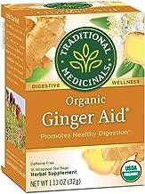 Traditional Medicinals Organic Ginger Aid Digestive Tea, 16 Tea Bags (Pack of 6)