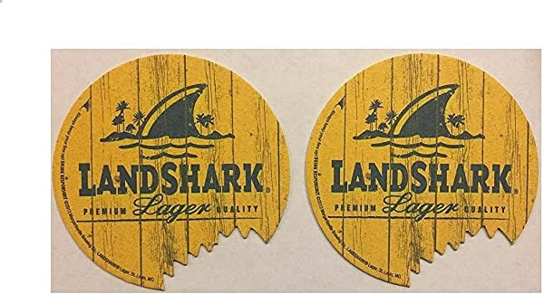 Landshark Island Lager Set Of 10 Beer Bar Pub Coasters W Bite
