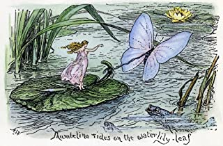 Andersen Thumbelina NThumbelina Rides On The Waterlily Leaf Drawing By Henry J Ford For The Fairy Tale By Hans Christian A...