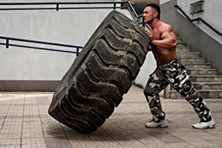 Wallmonkeys Tire Workout Wall Mural Peel and Stick Graphic (30 in W x 20 in H) WM270670
