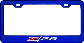 Chevy Camaro Z28 Mirror Sapphire Blue License Plate Frame (Zinc)