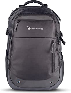 """TechProducts360 Quad Pack Backpack 17"""" Black"""