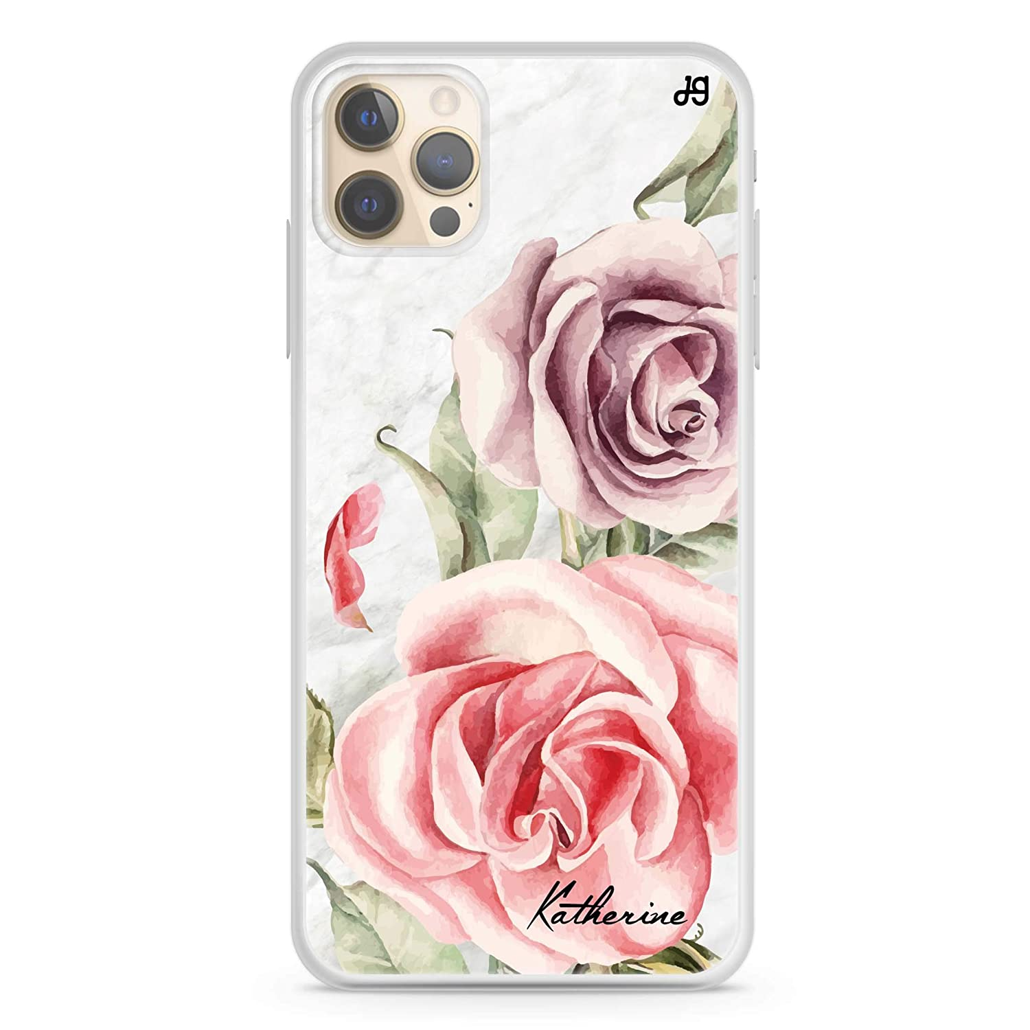 Marble Rose iPhone 12 Pro Max Soft iPho Case 2021 autumn and winter new Latest item Clear